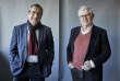 Gilles Bœuf et Hervé Le Bras, le 28 novembre, dans les locaux du« Monde», à Paris.