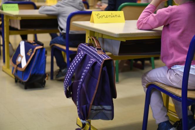Dans une école de Quimper, le 4 septembre 2017.