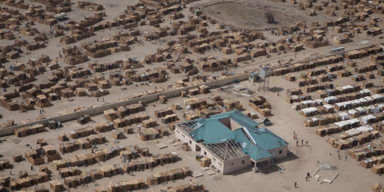 Un camp de réfugiés à Monguno, dans l'Etat de Borno, dans le nord-est du Nigeria, en février 2017.