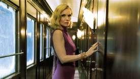 Michelle Pfeiffer estMrs. Hubbard, dans «Le Crime de l'Orient-Express», de Kenneth Branagh, tiré d'un roman d'Agatha Christie.