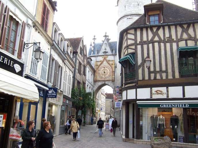 Centre ville d'Auxerre.