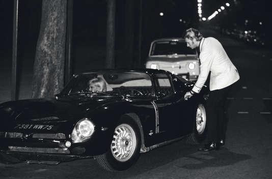 En 1965, avec Sylvie Vartan dans sa nouvelle Iso Grifo à moteur Chevrolet.
