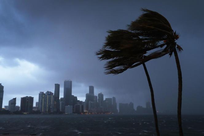 L'ouragan Irma frappe Miami (Floride), le 9 septembre.