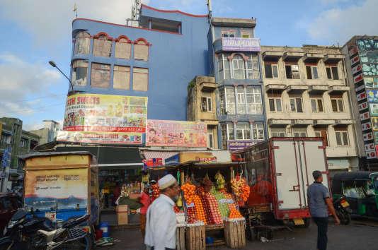 Le marché de Pettah à Colombo.