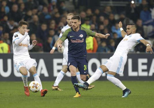 Lors du match entre l'Olympique de Marseille et Salzbourg au stade Vélodrome, le 7 décembre.