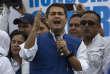 Le président du Honduras, Juan Orlando Hernandez, en campagne à Tegucigalpa le7décembre.