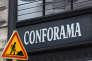 Le logo de Conforama à l'entrée d'un magasin de l'enseigne, à Paris, le 6 décembre.