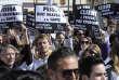 Manifestation demandant la fermeture de l'université Fernando Pessoa en France, ancien nom de l'ESEM France -Clesi, en mars2013 à La Garde, près de Toulon. AFP PHOTO / BORIS HORVAT