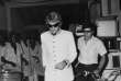 AFRICA,CONGO KINSHASA - MAY 15,1968: Johnny Hallyday off stage after his show.