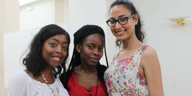 Laetitia Defoi, Anouchka Kponou et Meryem Ait Zerbane, les trois conceptrices de l'application Drepacare.
