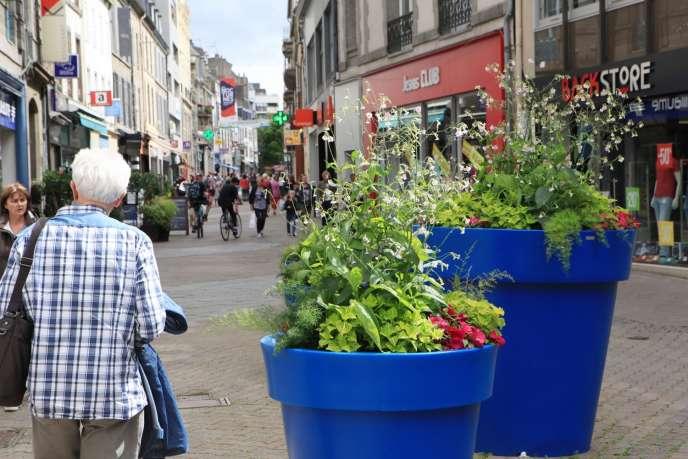 Rue Saint-Guillaume à Saint-Brieuc.