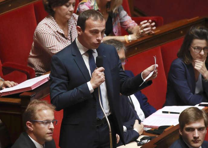 Le député LR Fabien Di Filippo à l'Assemblée, le 2 août.