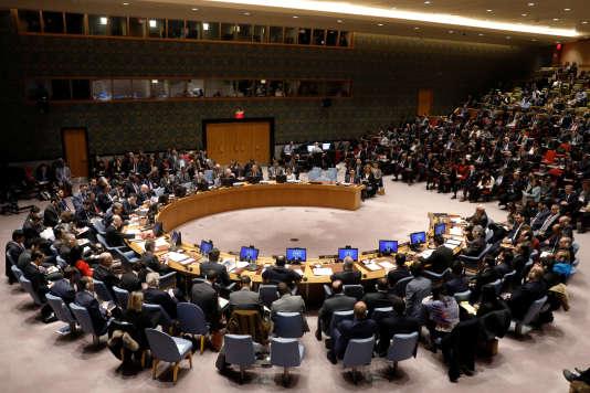 Aux Nations unies, à New York, le 8 décembre 2017.