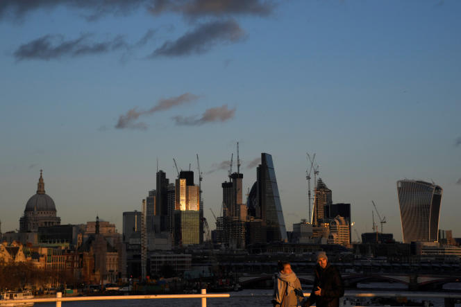 La City de Londres, le 8 décembre.
