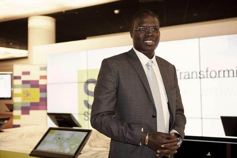 Khalifa Sall, le maire de Dakar, lors de l'édition 2012 du New Cities Summit.
