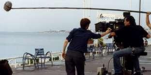 Sur le tournage d'un film à Nice.