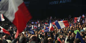 Meeting de Marine Le Pen, le 27 avril 2017 à Nice.