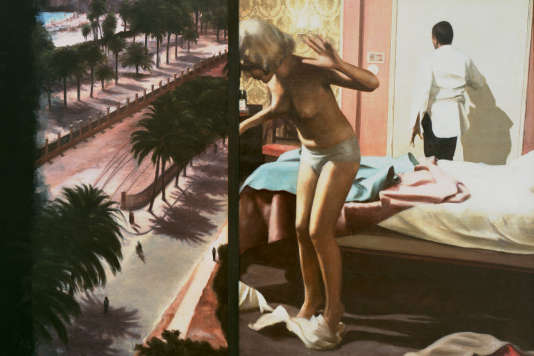 «A Mediterraneo», 1966. diptyque d'Ola Billgren. Moderna Museet, Stockholm.