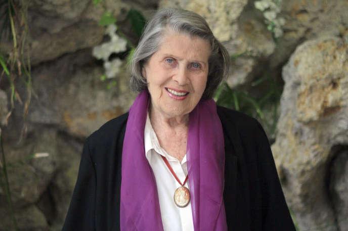 Tamara Nijinski, à Paris, le 28 mai 2013. La fille du chorégraphe est morte le 30 novembre à l'âge de 97 ans.