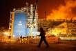 Site de gaz de Yamal LNG dans le port de Sabetta en Russie, à environ 2500 km de Moscou,le 7 décembre.