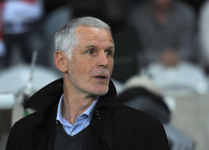 Francis Gillot en avril 2014, quand il était alors entraîneur de Bordeaux.