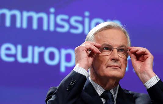 Conférence de presse de Michel Barnier, négociateur en chef pour l'Union européenne, le 8 décembre.