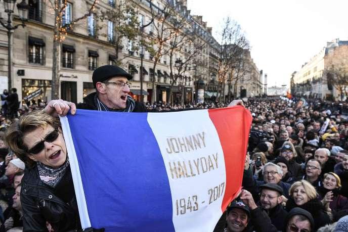 Lors de l'hommage à Johnny Hallyday, le 9 décembre àParis.