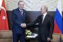 Le président turc Recep Tayyip Erdogan et son homologue russe Vladimir Poutine, àSotchi (Russie), le 13 novembre.