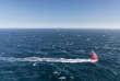 Le« Dongfeng» pendant la course« Volvo Ocean Race».