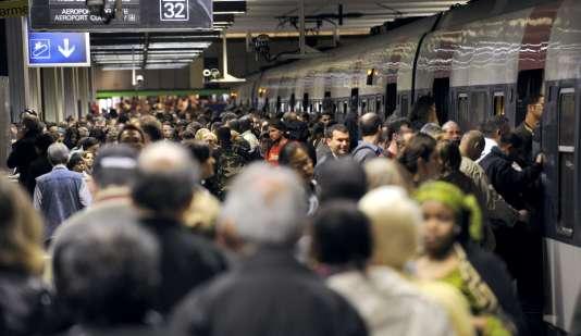 La station RER de la Gare du Nord, à Paris.