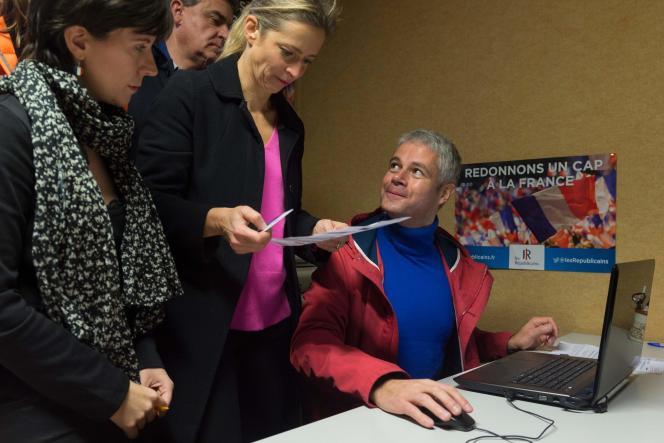 Laurent Wauquiez a voté au Puy-en-Velay.