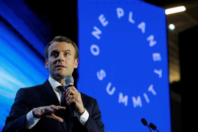 Le président Emmanuel Macron lors du sommet pour le climat One Planet Summit, le12décembre, à Paris.