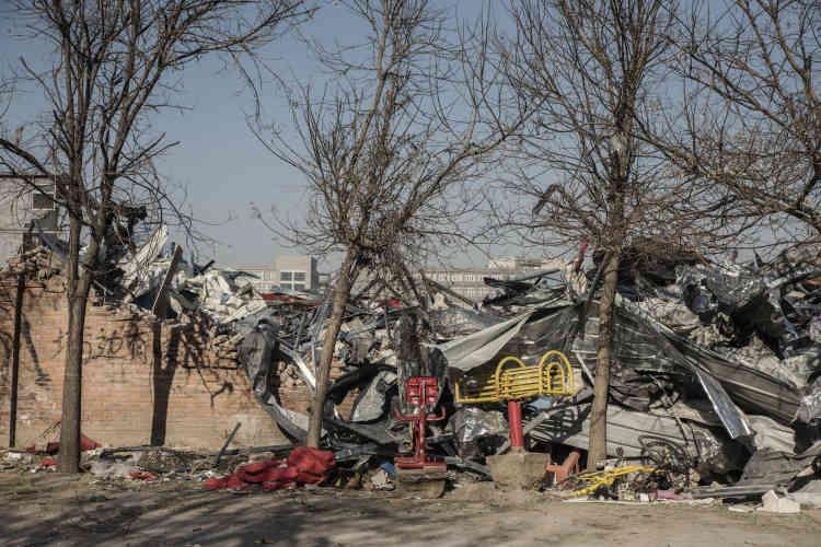 Les ruines du «village urbain» de Xinjian.
