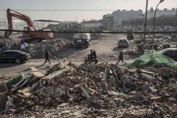 Une grande partie du « village urbain » de Taozhuang, à l'ouest de Pékin, a déjàété rasée. Ce quartier, où vivent de nombreux ouvriers migrants, devrait faire place à un parc.
