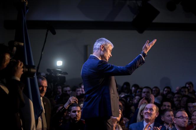 Laurent Wauqiez, le soir de son élection comme président du parti Les Républicains, à Paris, le 10 décembre.