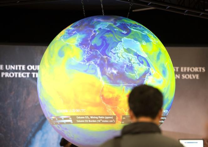 Lors de la COP21 (Conférence internationale sur le climat), au Bourget, près de Paris, en décembre 2015.