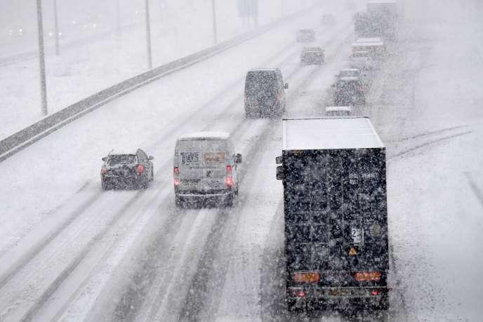 Une autoroute en Belgique, lundi 11 décembre.