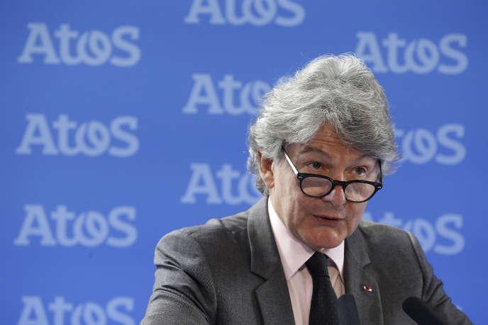 Thierry Breton, PDG de la société de services informatiques Atos, qui vient de faire une offre de rachat de Gemalto.