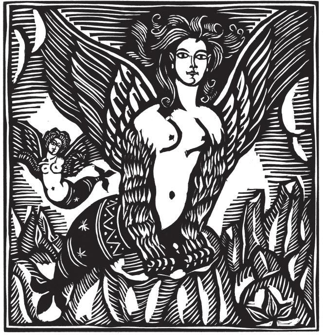 « Les Sirènes». Extrait du« Bestiaire»,de Guillaume Apollinaire et Raoul Dufy.