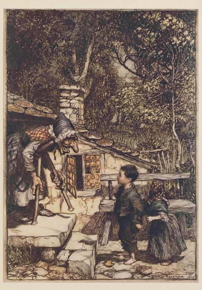 Extrait de«Jeannot et Margot», des frères Grimm, illustré parArthur Rackham.