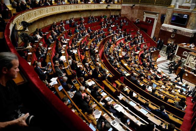 A l'Assemblée nationale, le 12 décembre.