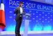 Le ministre de la transition écologique Nicolas Hulot lors du Climate Finance Day, organisé au ministère de l'économie à Paris le 11 décembre.