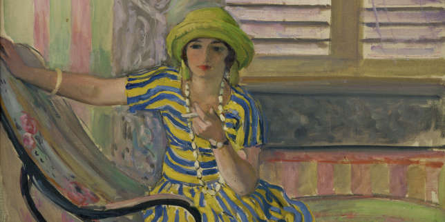 Tenue fluide, colorée, cheveux courts : une touche d'affranchissement. « La Cigarette », d'Henri Lebasque (vers 1921).