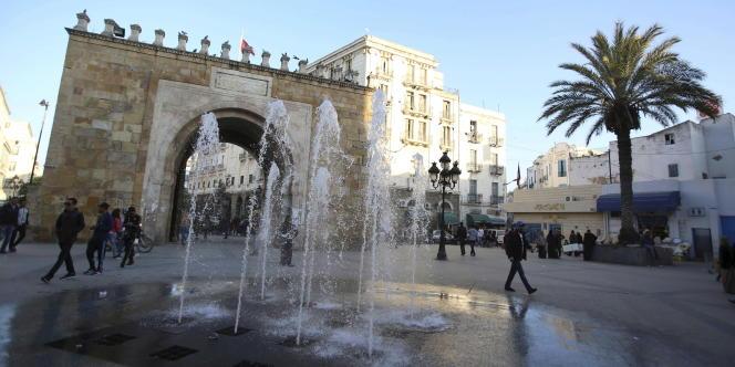 L'entrée de la médina de Tunis, en février 2016.