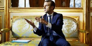 Emmanuel Macron, le 11 décembre à l'Elysée.