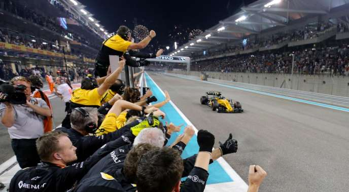 Double 6 pour Renault à Abou Dhabi le 26 novembre 2017 : 6e place de Nico Hülkenberg, 6e place du championnat constructeur.
