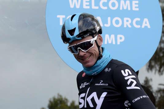 Christopher Froome, ici le 13 décembre, est actuellement en stage à Majorque, avec son équipe Sky.