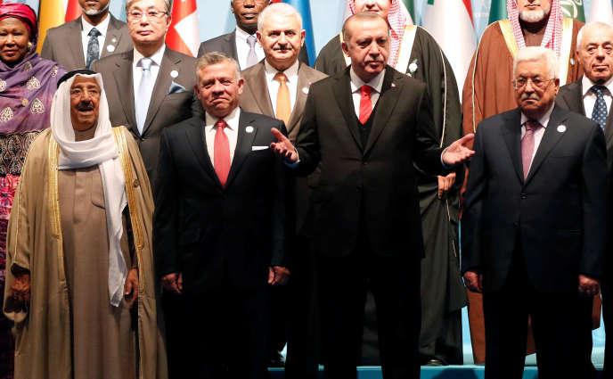 Le président turc Recep Tayyip Erdogan au sommet extraordinaire de l'Organisation de la conférence islamique, à Istanbul, le 13 décembre 2017.