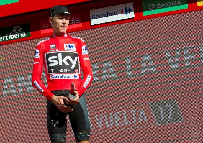 Christopher Froome lors du Tour d'Espagne.