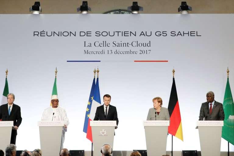 La réunion de soutien au G5 Sahel s'est tenue mercredi 13 décembre au château de la Celle-Saint-Cloud, dans les Yvelines.